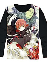 Ispirato da Naruto Cosplay Anime Costumi Cosplay Cosplay T-shirt Cartoni animati Manica lunga Top Per Unisex