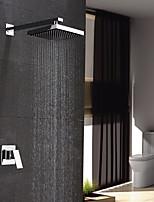 Современный На стену Дождевая лейка with  Керамический клапан Хром , Смеситель для душа