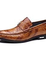 Для мужчин Мокасины и Свитер Удобная обувь Кожа Весна Лето Осень Зима Свадьба Повседневные Для вечеринки / ужина На низком каблукеЧерный