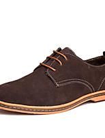 Для мужчин обувь Нубук Зима Удобная обувь Формальная обувь Туфли на шнуровке Шнуровка Назначение Свадьба Повседневные Для вечеринки /