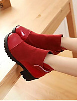 Women's Shoes PU Winter Comfort Boots For Casual Black Yellow Red