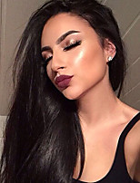 Silk Straight 360 Lace Frontal Wigs with Baby Hair Top 180% Density Brazilian 360 Lace Wigs Virgin Human Hair with Bleached Knots Natural Hairline