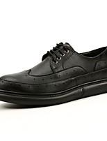 Для мужчин Свадебная обувь Удобная обувь Формальная обувь Осень Зима Натуральная кожа Свадьба Повседневные Шнуровка Комбинация материалов