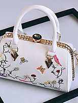 Women Bags All Seasons PU Tote with for Wedding Event/Party Casual Formal Office & Career White Black Blushing Pink