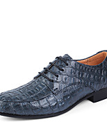 Men's Shoes Real Leather Cowhide Spring Fall Formal Shoes Driving Shoes Oxfords Lace-up For Wedding Casual Office & Career Party &