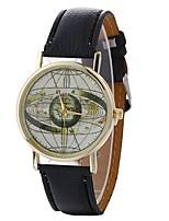 Жен. Модные часы Наручные часы Повседневные часы Китайский Кварцевый PU Группа Повседневная Черный Белый Синий Коричневый Зеленый Розовый