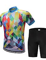 Camisa com Bermuda Bretelle Homens Manga Curta Moto Shorts Camisa Pulôver Camisa/Roupas Para Esporte Blusas Secagem Rápida Permeável á