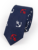 Men's Cotton Fashion Casual Anchors Printing Tie