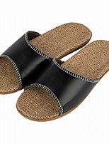 Men's Slippers & Flip-Flops Comfort Summer Fall Synthetic Casual Split Joint Flat Heel Black Light Brown Dark Brown Flat