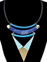 Femme Collier court /Ras-du-cou Pendentif de collier Forme Géométrique Forme de Triangle AlliageBasique Mode Style Punk Ajustable