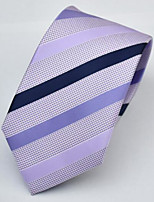 Men's Polyester Neck Tie,Office/Business Wedding Striped