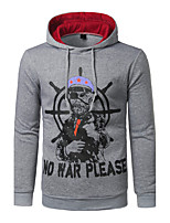 Men's Super Fashion Casual Punk Style Casual Cotton Long-Sleeve Autumn/Winter Sports Pullover Hoody   Personality  Printing