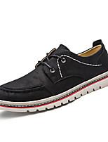 Для мужчин Туфли на шнуровке Для прогулок Удобная обувь Бархатистая отделка Осень Зима Повседневные Для вечеринки / ужина ШнуровкаЧерный