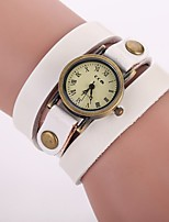 XU Women's Luxurious Elegant Leather Quartz Bracelet Watch