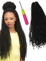 Afro crespo Trecce Uncinetto Afro Tessuto riccio 100% capelli kanekalon KanekalonCenere marrone Medio Golden Brown Biondo ramato Bleach