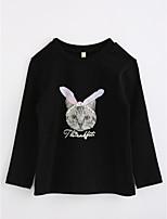 Girls' Animal print Blouse,Cotton Spring Fall Long Sleeve
