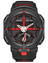 Men's Kid's Sport Watch Chinese Digital PU Band Black White Red