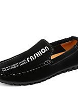 Для мужчин Мокасины и Свитер Удобная обувь Светодиодные подошвы Формальная обувь Обувь для дайвинга Замша Осень ЗимаСвадьба Повседневные