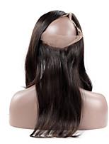 Línea de pelo natural del pelo remy recto del cierre frontal del cordón 360 con el pelo humano del pelo del pelo 100% peruano virginal