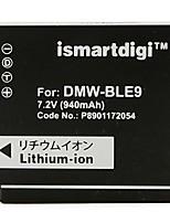Ismartdigi BLE9 7.2V 940mAh Camera Battery for Panasonic BLE9E BLE9GK GF3GK GF3 GF3X GF5 GF6 GX7 S6K