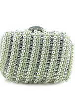 Women Evening Bag Special Material Spring/Fall All Seasons Wedding Event/Party Casual Formal Outdoor Office & Career BaguetteBead Metal