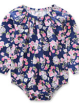 Baby Floral One-Pieces,Cotton Polyester Spring/Fall Summer Long Sleeve