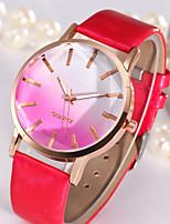 Mujer Reloj de Moda Reloj de Pulsera Cuarzo Piel Banda Casual Negro Blanco Azul Rojo Marrón Rosa Rose