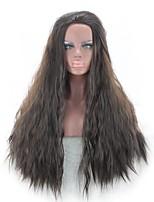 Hombre Pelucas sintéticas Sin Tapa Largo Rizado Negro Peluca de cosplay Las pelucas del traje
