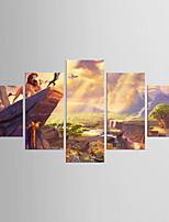 Stretched Canvas Print Five Panels Canvas Any Shape Print Wall Decor For Home Decoration