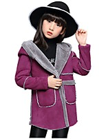 Girls' Floral Jacket & Coat,Polyester Winter All Seasons Long Sleeve