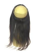 роскошная бразильская девственная прямая 360 кружевных лобовых крышек предварительно выщипывала 360 кружевных лобовое закрытие с