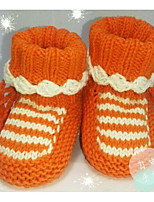 Baby Shoes Orlon Spring Fall Comfort First Walkers Flats For Casual Orange