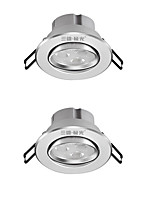 2Pc 3W Led Downlight Celing Light Cool White AC220V Size Hole 75mm