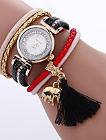 Women's Fashion Watch Bracelet Watch Unique Creative Watch Chinese Quartz PU Band Bohemian Charm Elegant Casual Black White Blue Red Pink