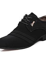 Men's Oxfords Formal Shoes Spring Summer Fall Winter Nubuck leather Casual Outdoor Office & Career Rivet Flat Heel Black Flat