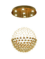 Contracted and contemporary led restaurant droplight circular light crystal lamp ball lamp sitting room bedroom lighting lamps and lanterns