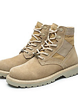 Men's Shoes Nubuck leather Fall Winter Comfort Combat Boots Light Soles Boots For Casual Beige