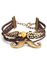 Men's Women's Leather Bracelet Wrap Bracelet Jewelry Multi Layer Punk Leather Alloy Animal Shape Jewelry For Daily Casual Stage Office &