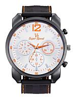 Муж. Спортивные часы Наручные часы Повседневные часы Китайский Кварцевый / силиконовый Pезина Группа Винтаж Повседневная Черный
