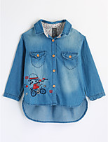 Girls' Embroidered Shirt,Cotton Fall Long Sleeve