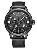 Homme Montre de Sport Montre Habillée Montre Bracelet Chinois Quartz Calendrier Chronographe Etanche Cuir Vrai Cuir Bande Pour tous les