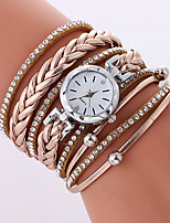 Women's Fashion Watch Bracelet Watch Quartz PU Band Cool Casual Black White Beige