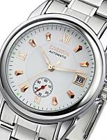 Муж. Механические часы С автоподзаводом Календарь Фосфоресцирующий сплав Группа Серебристый металл