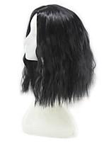 Mujer Pelucas sintéticas Sin Tapa Corto Rizado Negro Corte Bob Peluca natural Las pelucas del traje