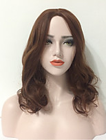 Women Synthetic Wig Capless Medium Body Wave Brown Lolita Wig Halloween Wig Carnival Wig Natural Wig Costume Wigs