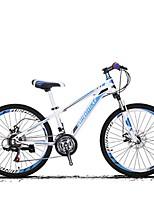 Горный велосипед Велоспорт 21 Скорость 24 дюймы Shimano Дисковый тормоз Передняя вилка с амортизацией Противозаносный Aluminum Alloy