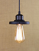 Pendant Light Rustic/Lodge Antique Vintage Retro Painting Feature for Mini Style Metal Kitchen Entry Shops/Cafes 1 Bulb
