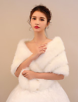 Women's Wrap Shawls Faux Fur Wedding Party/ Evening Stripe