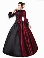 Cinderella богиня Костюмы Санта Клауса Косплэй Kостюмы Фестиваль / праздник Костюмы на Хэллоуин Красный С принтом Кружева Платье Хэллоуин