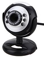 câmera webcam pc com porta usb porta ajustável suporte de microfone embutido controle de volume luz led